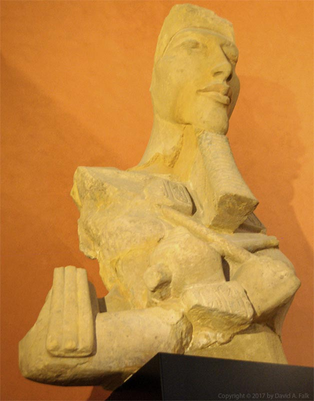 A bust of Akhenaten from the Louvre Museum.